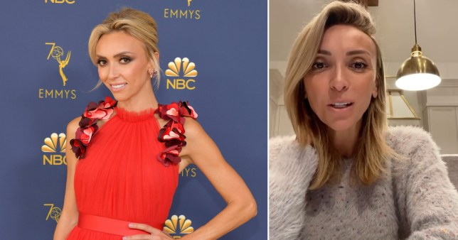 Giuliana Rancic pictured at the Emmys and in home video