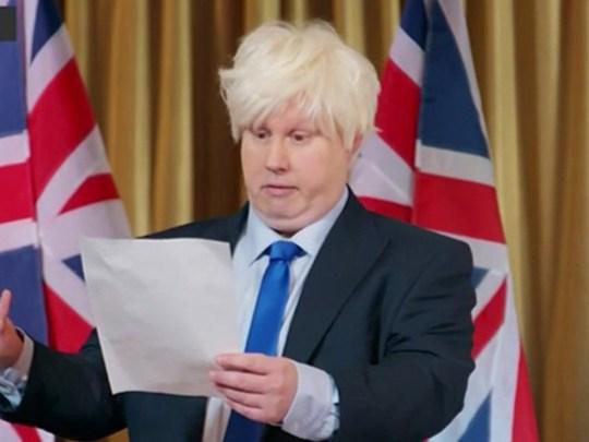 Matt Lucas's Boris Johnson Bake Off sketch