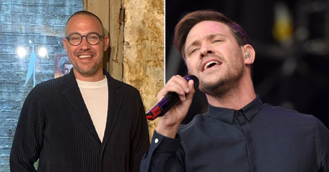 Will Young pictured at bookstore and performing on stage