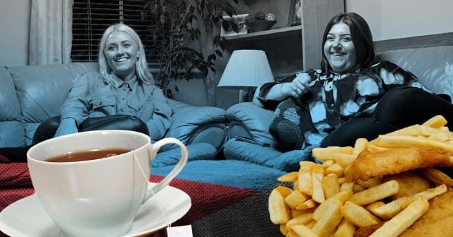 Ellie Izzie fish and chips tea