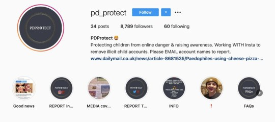 Instagram page for @PD_Protect