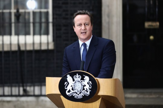 Prime Minister David Cameron speaks as he leaves Downing Street for the last time on July 13, 2016 in London, England.
