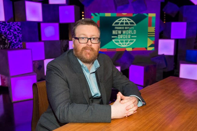 Programme Name: Frankie Boyle's New World Order - TX: n/a - Episode: Frankie Boyle's New World Order S4 - Generics (No. n/a) - Picture Shows: Frankie Boyle - (C) Endemol Shine UK - Photographer: Brian Ritchie