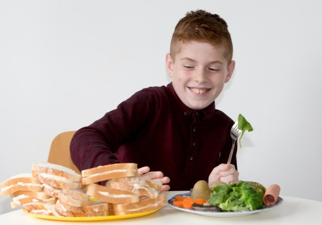 Zachary Twigger age 10 who has been eating Dairylea cheese since he was 18 months old has now started eating hot meals following hypnotism treatment.