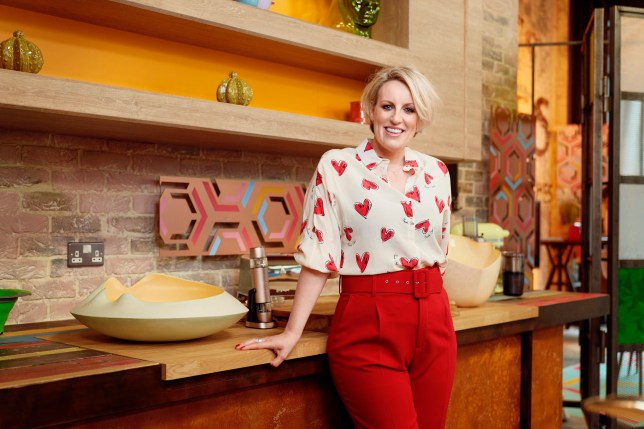 Steph McGovern On Set of New Show Steph's Packed Lunch