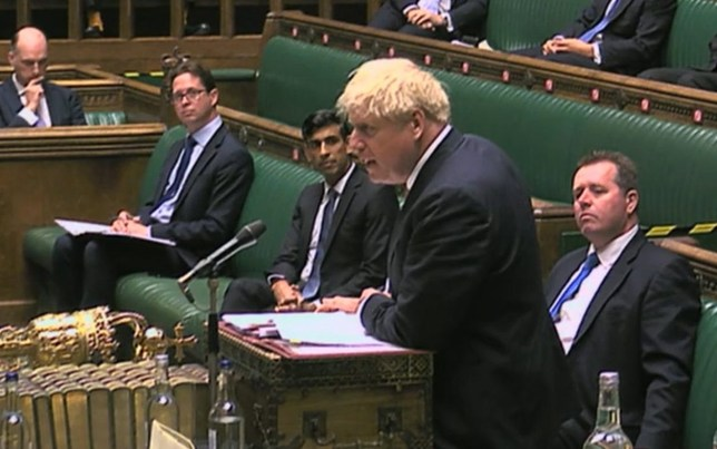 Prime Minister Boris Johnson speaks during Prime Minister's Questions in the House of Commons, London. PA Photo. Picture date: Wednesday September 2, 2020. See PA story COMMONS PMQs. Photo credit should read: PA Wire