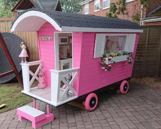 Granddad makes incredible mini caravan that even has double glazing Picture: Chantelle & Steve Warrick