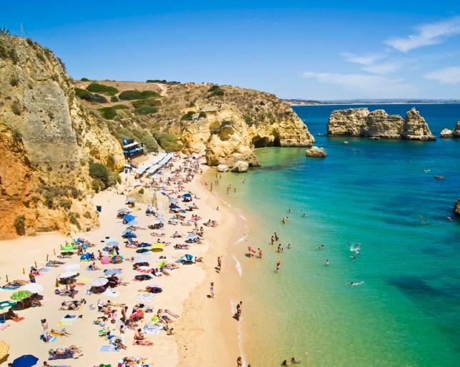 Praia do Camilo is one of th many beaches near Lagos, Algarve, Portugal.