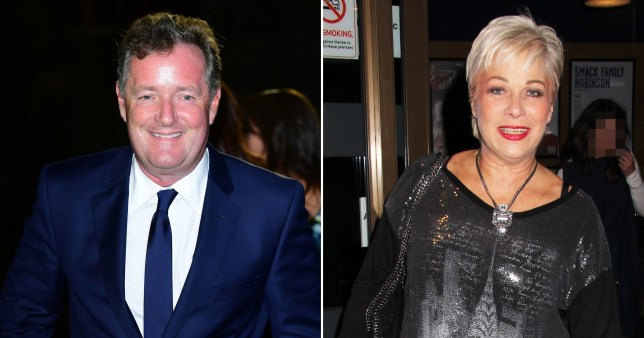 Piers Morgan and Denise Welch