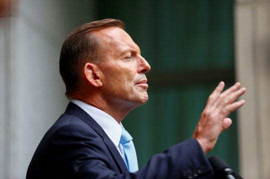 FILE PHOTO: Former Australian Prime Minister Tony Abbott is seen in 2015. REUTERS/Sean Davey/File Photo