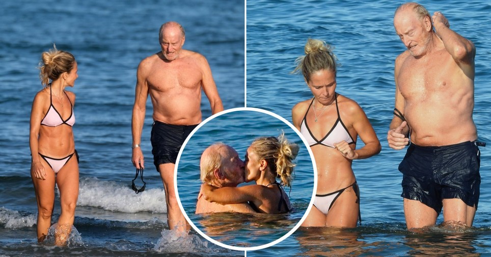 Charles Dance and girlfriend
