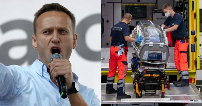 L'atterrissage d'urgence a `` sauvé '' la vie de Navalny et le chef d'état-major n'a `` aucun doute '' que Poutine l'a fait AP / Getty