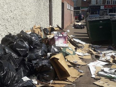 Fly-tippers dump piles of rotten meat and rubbish by home 'every day for years'