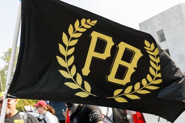 A Proud Boys flag