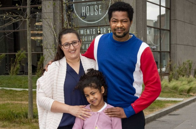 Shared ownership: Evelin Csaki, 31, and her partner Anthony Omoregie, 39, have found the family space they need