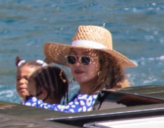 EXCLUSIVE: **USE CHILD PIXELATED IMAGES IF YOUR TERRITORY REQUIRES IT** * Min Web / Online Fee 300 GBP For Set * * Min Print Fee 300 GBP PP * Double Pg 1 * Famous celebrity couple Jay-Z & Beyonce are pictured as they leave a luxury yacht Lana near Cavtat, Croatia on September 8, 2020. They ended their a 7-day dream vacation in Croatia on 107 meters long yacht which is one of most expensive charter yachts in the world, roughly $2 million per week. Beyonce celebrated her 39th birthday on Friday at the island Bisaga Mala, which is located next to Galesnjak, famous heart shaped island. Romantic dinner was prepared by famus Sorento chef with 2 Michelin stars who was their chef on a whole vacation. On Saturday they were dining at restaurant Festa at Kornati archipelago. This is not their first visit to Croatia. 2011 Beyonce and Jay-Z were at island Hvar when Beyonce was pregnant with Blue Ivy and 2009 in Dubrovnik when media tried to take some photos and videos of the couple, which ended up with the incident between camerman and bodyguard of the couple. Pictured: Beyonce Ref: SPL5185751 080920 EXCLUSIVE Picture by: Grgo Jelavic/PIXSELL / SplashNews.com Splash News and Pictures USA: +1 310-525-5808 London: +44 (0)20 8126 1009 Berlin: +49 175 3764 166 photodesk@splashnews.com Australia Rights, Indonesia Rights, India Rights, South Korea Rights, Malaysia Rights, Norway Rights, Singapore Rights, Taiwan Rights, United Kingdom Rights, United States of America Rights