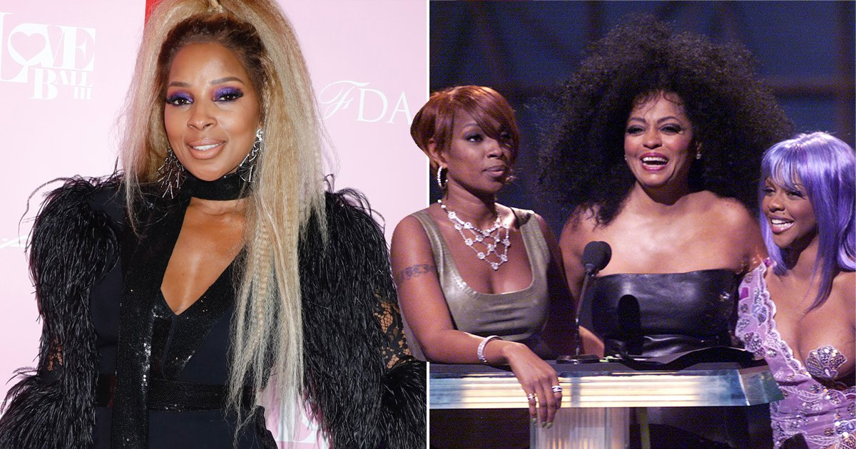 Mary J Blige Was Pissed Diana Ross Flicked Lil Kim's Milk Shake At The VMA's  [VIDEO]