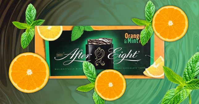 Orange & Mint After Eights now exist and you can buy them at B&M for ?2