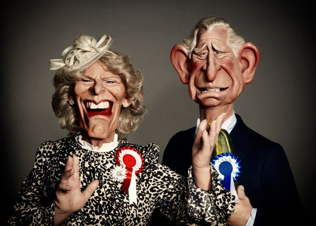 Spitting Image Prince Of Wales and Camilla