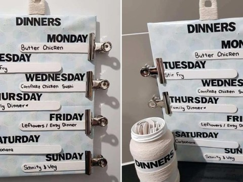 Can't think what to make for dinner? Try this woman's meal-planning hack