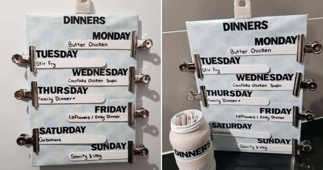 Woman shares meal planning hack