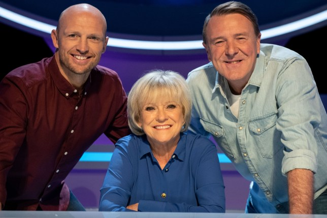 A Question Of Sport presenters Sue Barker, Matt Dawson and Phil Tufnell