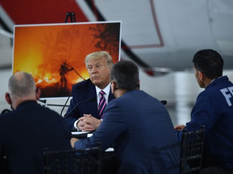 Trump denies wildfires are linked to climate change as he insists 'it'll get cooler'