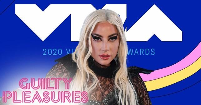 Lady Gaga performing at VMAs