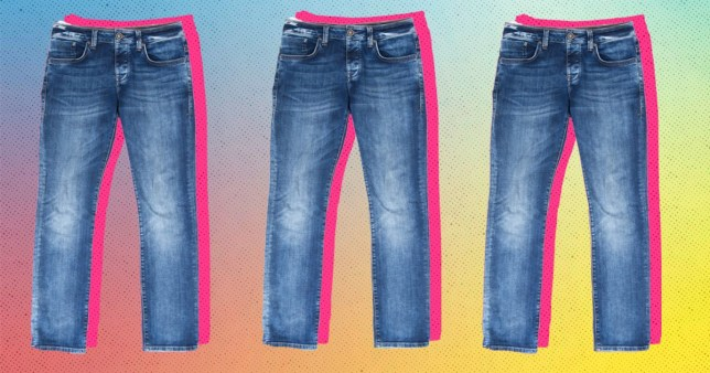 jeans on a colourful background