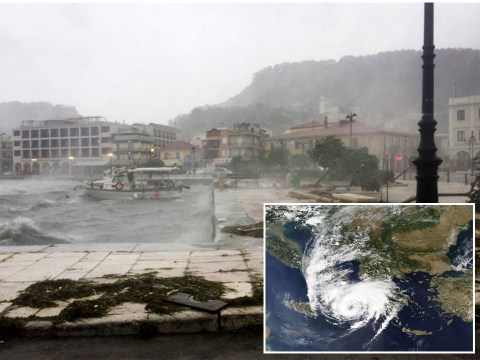 Extremely rare and dangerous hurricane set to blast through Greece