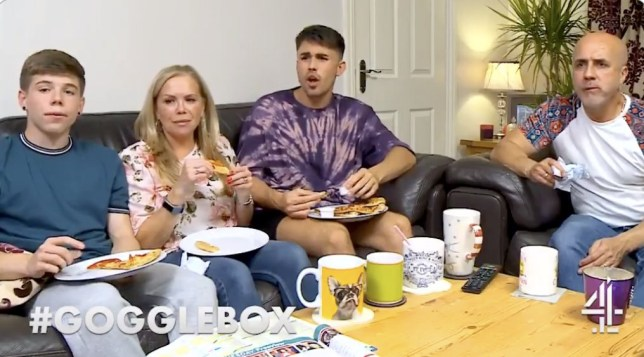 The Bagg family on Gogglebox
