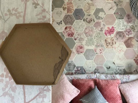 Thrifty mum transforms bedroom with free wallpaper samples