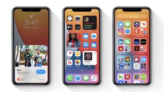 Apple iphone screen ios14