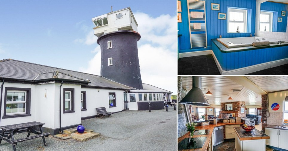 Eight bedroom lighthouse goes on sale for £1million Pics: BNPS