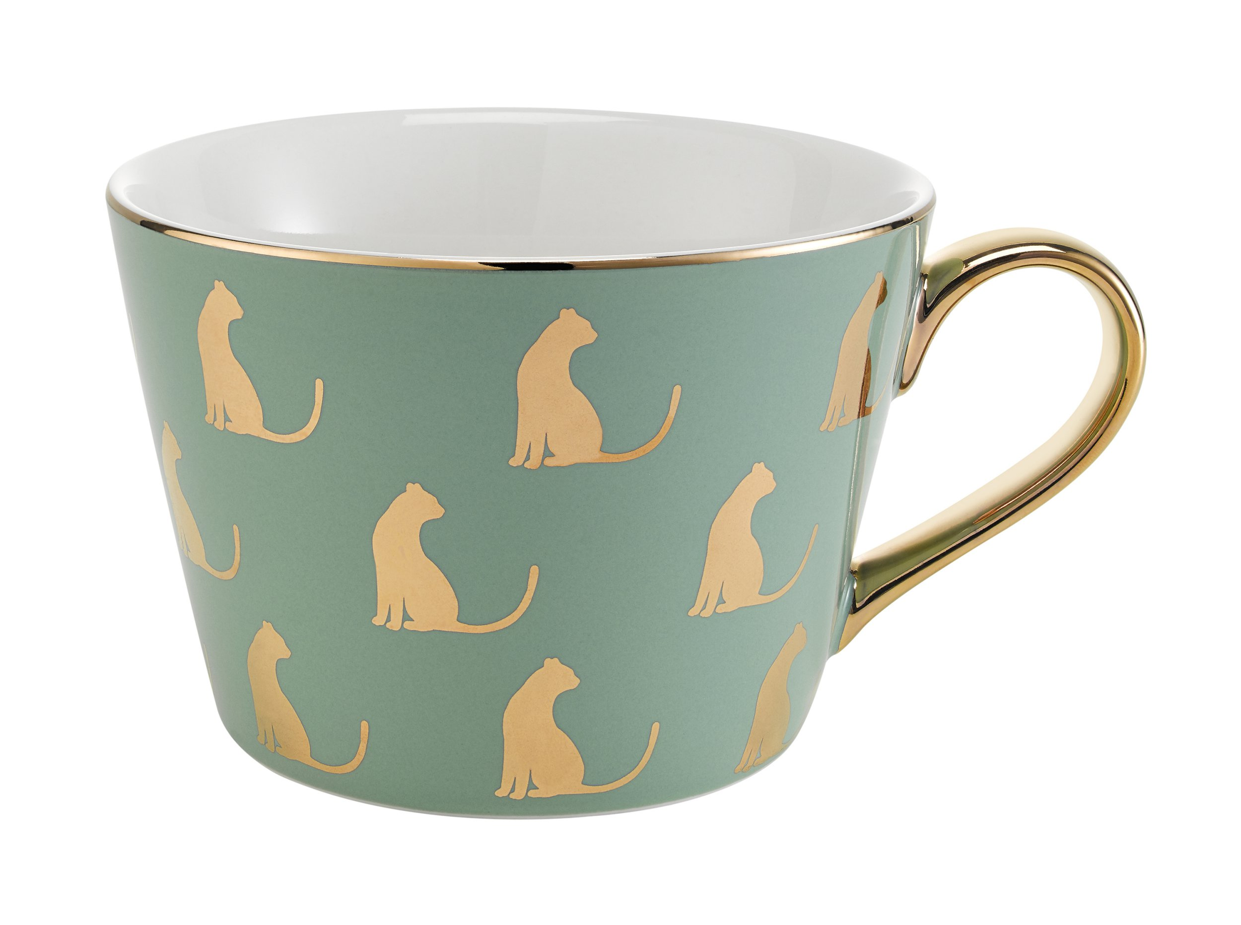 Fox & Ivy Green Cat Mug, £5, Tesco. Buy it with the Ownable app.