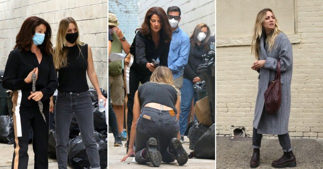 Kaley Cuoco is on her knees with a gun pointed to her head by Michelle Gomez Pictures: Splash