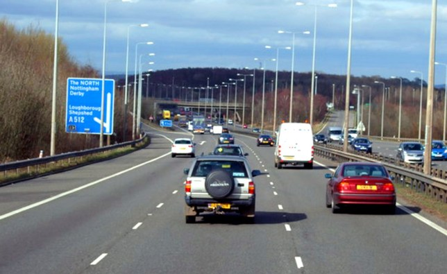 File pic. Junction 23 of M1, near Loughborough (Picture: Geograph.co.uk)