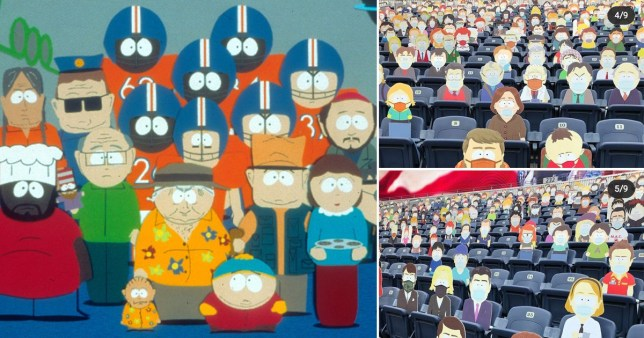 South Park characters fill NFL stadium