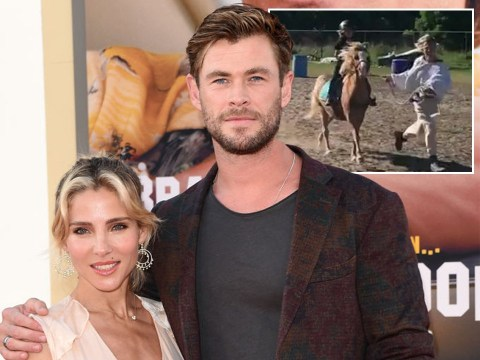 Chris Hemsworth ribs wife Elsa Pataky for 'dragging lazy horse around an obstacle course'