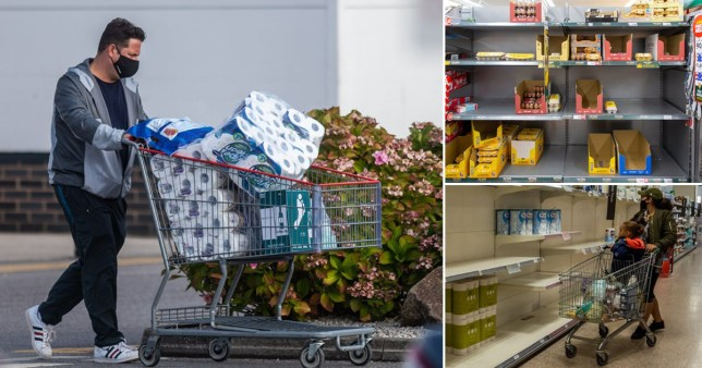 Which supermarkets are rationing items as people start panic buying again? Pics: Getty/W8Media/Alamy Live
