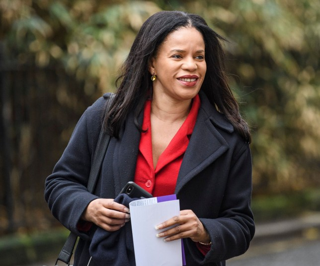 Mandatory Credit: Photo by Ben Cawthra/REX (10476759ac) NEC member Claudia Webbe is seen arriving at a Labour Party meeting in central London to finalise the Party's 2019 General Election manifesto. Labour Party Manifesto Meeting, London, UK - 16 Nov 2019