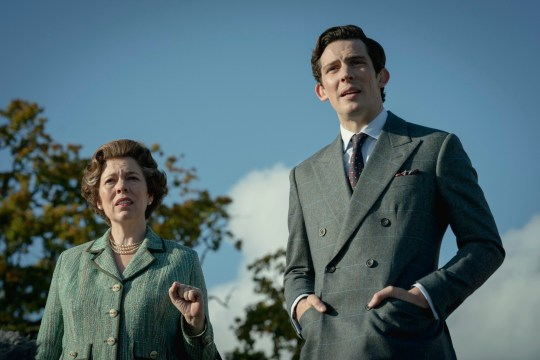 Picture shows: Queen Elizabeth II (OLIVIA COLMAN) and Prince Charles (JOSH O CONNOR)