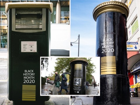 Four postboxes painted in tribute to black Brits as part of Black History Month