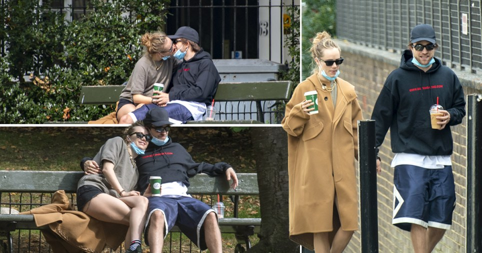 Robert Pattinson pictured on park date with Suki Waterhouse in London
