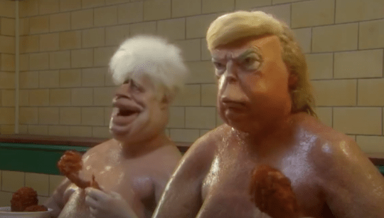 Boris and Trump in Spitting Image trailer