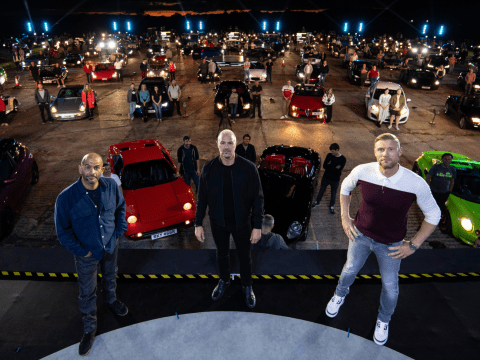 Top Gear's Paddy McGuinness, Freddie Flintoff and Chris Harris drive fans wild at outdoor filming session