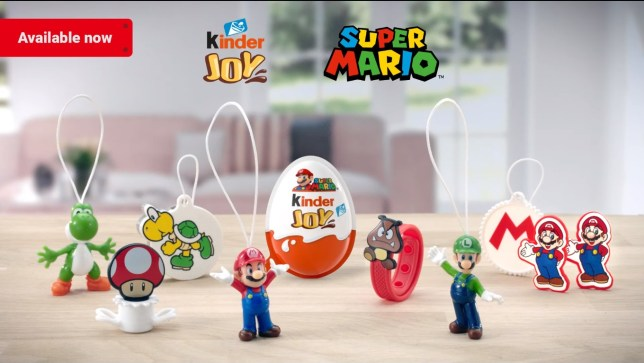 Super Mario Kinder eggs