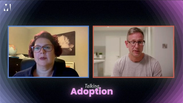 Sarah and Rich discuss their adoption experiences on Zoom
