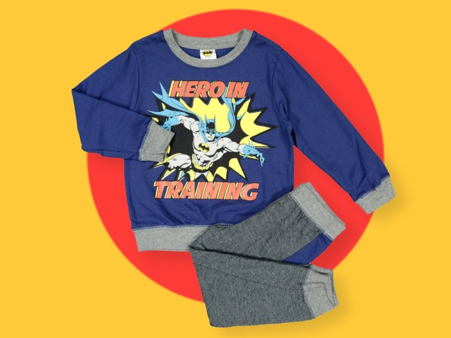 TK Maxx is selling kids Batman PJs that look like they say 'heroin training' on them
