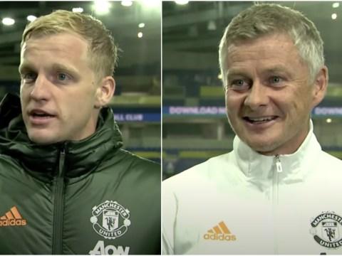 Ole Gunnar Solskjaer hints at position change for Donny van de Beek